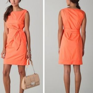 Diane Von Furstenberg coral dress